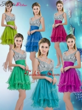 Pretty Straps Short Prom Dresses with Sequins for Fall BMT072CFOR