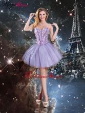 Pretty Sweetheart Mini-length Beading Prom Dresses in Lavender QDDTA93003FOR