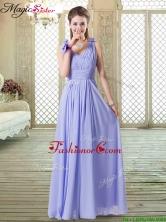 Romantic Empire Straps Prom Dresses in Lavender BMT068AFOR