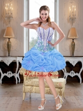 Romantic Mini Length Beaded Baby Blue Prom Dresses for Cocktail SJQDDT40003-2FOR