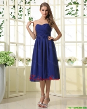 Simple Royal Blue Prom Dresses with Ruching for 2016 DBEE528FOR