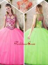 Unique  Straps Beading Quinceanera Dresses with Appliques SJQDDT203002FOR
