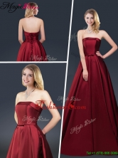 Winter Gorgeous A Line Strapless Prom Dresses with Brush Train YCPD014FOR