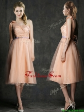 Wonderful One Shoulder Prom  Dress with Sashes and Bowknot BMT0100EFOR