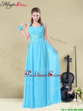 Wonderful Straps Empire Prom Dresses with Ruching and Belt BMT008-7EFOR