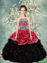 2015 Winter Lovely Strapless Mini Quinceanera Dresses with Zebra and Ruffles LGZY434-2FXFOR