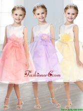 Beautiful Scoop Tulle Mini Quinceanera Dresses with Hand Made Flowers and  Ruffles THLG020FOR