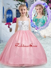 Beautiful Spaghetti Straps Pink Mini Quinceanera Dresses with Beading PAG249FOR