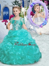 Best Spaghetti Straps Little Girl Pageant Dresses with Beading and Ruffles PAG235FOR