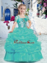 Best Spaghetti Straps Mini Quinceanera Dresses with Beading and Bubles PAG255FOR