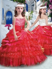 Classical Ball Gown Mini Quinceanera Dresses with Ruffled Layers and Beading PAG277FOR