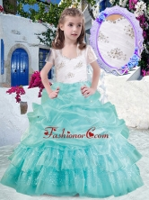 Elegant Straps Ball Gown Mini Quinceanera Dresses with Beading and Bubles PAG281FOR