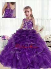 Fashionable Ball Gown Beading and Ruffles Little Girl Pageant Dresses PAG219FOR