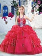 Fashionable Halter Top Mini Quinceanera Dresses with Beading and Bubles PAG288FOR