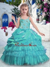 Gorgeous Straps Mini Quinceanera Dresses with Ruffled Layers and Beading PAG279FOR