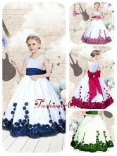 Hot Sale Scoop Long Little Girl Pageant Dresses with Bowknot PAG227FOR