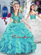Latest Halter Top Mini Quinceanera Dresses with Ruffles and Beading PAG233FOR