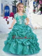 Lovely Spaghetti Straps Mini Quinceanera Dresses with Beading and Bubles PAG229FOR