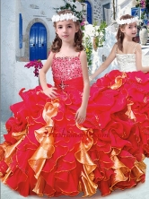 Luxurious Spaghetti Straps Mini Quinceanera Dresses with Beading and Ruffles PAG237FOR