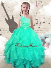Modest Ball Gown One Shoulder  Mini Quinceanera Dresses with Beading  FA6GL18MTFOR
