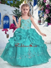 Most Popular Straps Mini Quinceanera Dresses with Beading and Bubles PAG271FOR