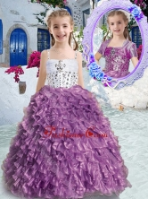 New Arrivals Spaghetti Straps Beading and Ruffles Mini Quinceanera Dresses PAG275FOR