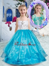 Perfect Spaghetti Straps Ball Gown Mini Quinceanera Dresses with Beading PAG257FOR