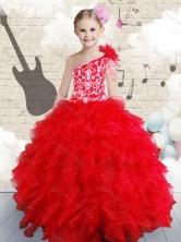 Popular Beading and Ruffles  Mini Quinceanera Dresses in Red  FA1GC08MTFOR