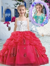 Pretty Spaghetti Straps Mini Quinceanera Dresses with Beading and Bubles PAG286FOR