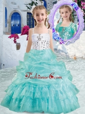 Romantic Spaghetti Straps Mini Quinceanera Dresses with Beading and Bubles PAG283FOR