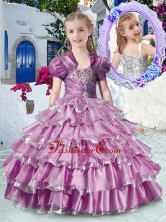 Romantic Straps Mini Quinceanera Dresses with Ruffled Layers and Appliques PAG292FOR
