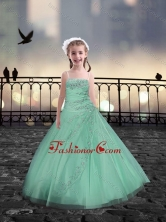 Spaghetti Straps Apple Green Mini Quinceanera Dresses with Beading XFLG081-7FOR