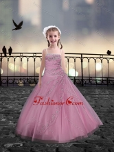 Spaghetti Straps Beaded Mini Quinceanera Dresses in Rose Pink XFLG081-3FOR