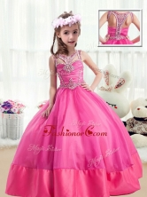 Sweet Ball Gown Beading Little Girl Pageant Dresses in Hot Pink PAG224FOR