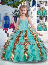 Top Selling Straps Mini Quinceanera Dresses with Beading and Ruffles PAG267FOR