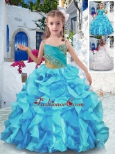 Wonderful Spaghetti StrapsMini Quinceanera Dresses with Beading and Ruffles PAG265FOR