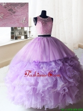 2017 Exquisite Laced and Ruffled Quinceanera Dress in Organza and Tulle PSSW069FOR