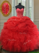 Elegant Visible Boning Bubble Quinceanera Dress with Beading and Ruffles PSSW001FOR