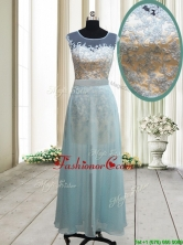 Classical See Through Scoop Short Inside Long Outside Prom Dress in Light Blue PSSWPD028FOR